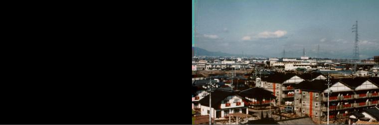 1989年 地域の景観に配慮した旧更埴市営住宅屋代団地のHOPE計画、設計を担当。