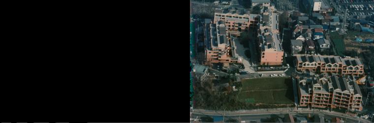 1992年 大野アトリエ所属時の担当集合住宅、あさかヴィレッジ・パティオ凍が竣工。